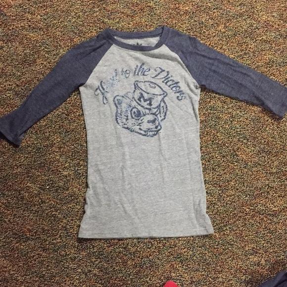 652090656f7 adidas Tops - Vintage Style University of Michigan Baseball Tee
